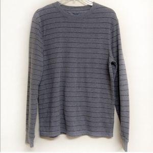 Striped Thermal Style Shirt Size Medium